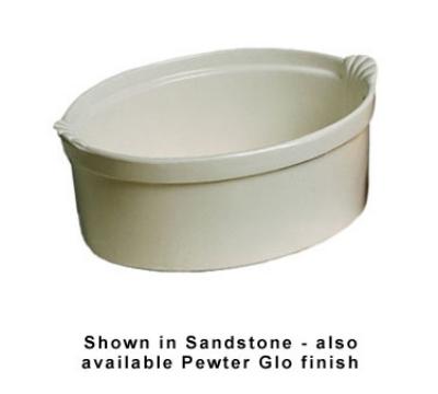 Bon Chef 2084S WH 8-qt Shell Casserole Dish, Aluminum/White
