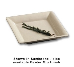 Bon Chef 2085P 2-Qt Square Serving Dish, 1-PT, Aluminum/Pewter-Glo