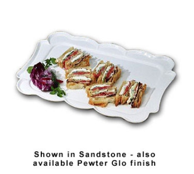 "Bon Chef 2097S Rectangular Platter - 15"" x 22"", Aluminum"
