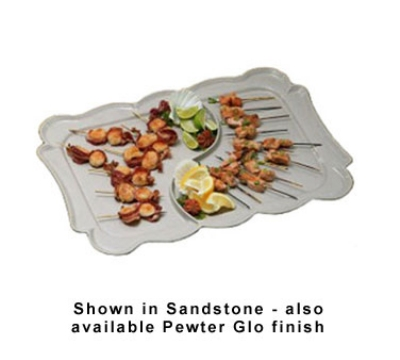 "Bon Chef 2098DS WH 26"" Divided Platter, Aluminum/White"