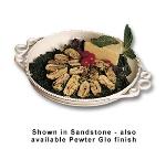 """Bon Chef 2106S WH 14"""" Round Platter, Aluminum/White"""