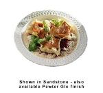 "Bon Chef 2300P 16"" Round Platter, Aluminum w/ Pewter-Glo"
