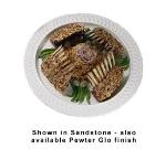 """Bon Chef 2301S WH 18"""" Round Platter, Aluminum w/ White"""