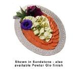 "Bon Chef 2303S WH 20.25"" Oval Platter, Aluminum/White"