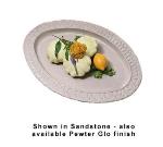 "Bon Chef 2304S WH 22.5"" Oval Platter, Aluminum/White"