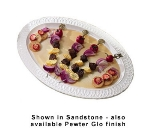 "Bon Chef 2305P 22.75"" Oval Platter, Aluminum/Pewter-Glo"
