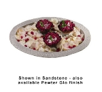 Bon Chef 2309P 7-QT Oval Casserole Dish, Aluminum/Pewter-Glo