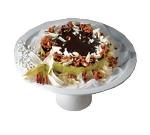 """Bon Chef 2453S WH 13"""" Pedestal Plate, Aluminum/White"""