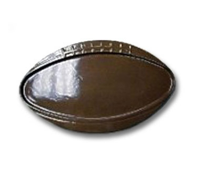 "Bon Chef 2501S BLK 25-5/8"" Oval Football Platter, Aluminum/Black"
