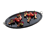 Bon Chef 2700S BLK 33-in Chef Platter w/ Round Handle, Aluminum/Black