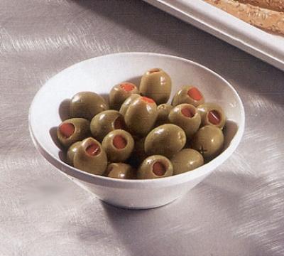 """Bon Chef 2710S WH 5.5"""" Slant Bowl, Aluminum/White"""
