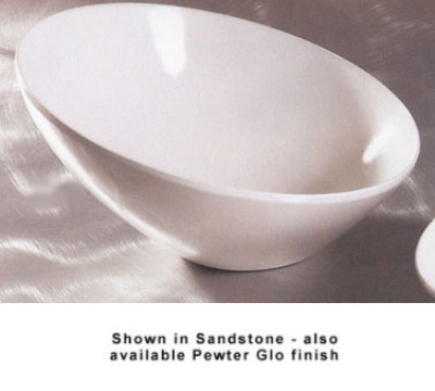 Bon Chef 2712P 12-in Slant Bowl, Aluminum/Pewter-Glo