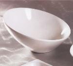 "Bon Chef 2712S BLK 12"" Slant Bowl, Aluminum/Black"