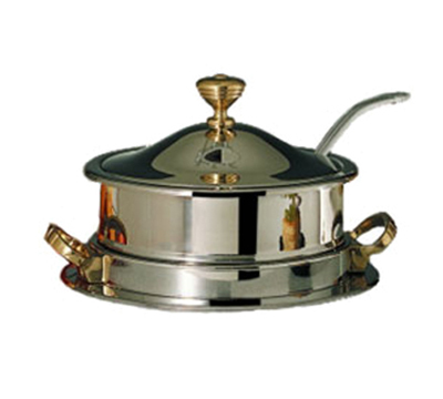 Bon Chef 30002HLCH 8-QT Drop-in Soup Well w/ Heater, Hinged Lid 115 V Chrome