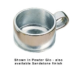 Bon Chef 3033S WH 10-oz Soup Cup w/ side Handle, Aluminum/White