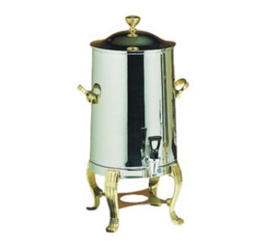 Bon Chef 40003 3-Gallon Coffee Urn/Server, Insulated Heavy Gauge Stainless, Brass
