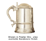 Bon Chef 4008S WH 20-oz Covered Tankard, Aluminum/White