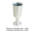 Bon Chef 4014P 11-oz Colonial Water Goblet, Aluminum/Pewter-Glo