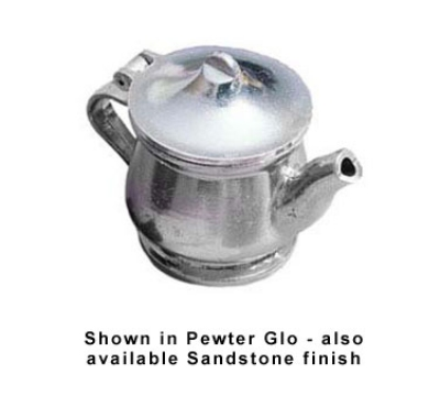 Bon Chef 4024P 11-oz Teapot w/ Insulated Handle, Aluminum/Pewter-Glo