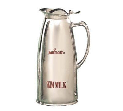 Bon Chef 4052MS 1-qt Insulated Pitcher Server w/ Marriott Skim Crest, Stainless Steel