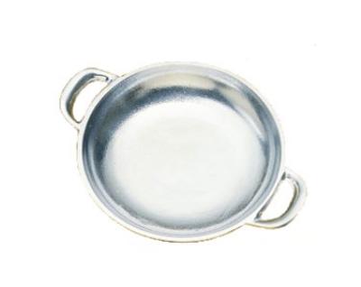 """Bon Chef 5000S WH 5.75"""" Round Au Gratin Pan, Aluminum/White"""