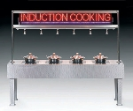 Bon Chef 50117 Laminate Induction Buffet Table w/Customized Neon Light Sign