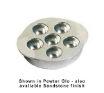Bon Chef 5028T 6.5-in Temp Snail Dish, 6-Hole, Aluminum