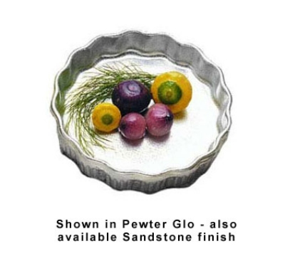 Bon Chef 5032P 5.5-in Quiche Dish, Aluminum/Pewter-Glo