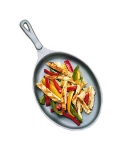 Bon Chef 5037I Oval Cast Iron Skillet, 7-1/8 x 9-7/8""