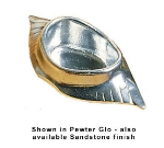 Bon Chef 5041S WH 6-in Crab Shell Dish, Aluminum/White