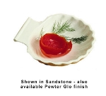 Bon Chef 5046S WH 6.5-in Shell Dish, Aluminum/White