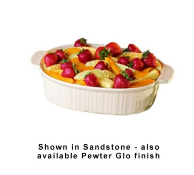 Bon Chef 5055S WH 4-qt Oval Server Casserole Dish, Aluminum/White