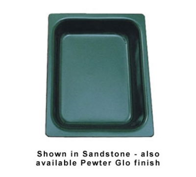 "Bon Chef 5065P 1/2-Size Chafer Food Pan, 2.75"" Deep, Aluminum/Pewter-Glo"