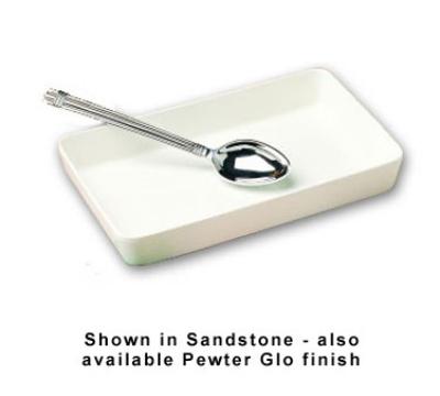 Bon Chef 5067S WH 3-qt Rectangular Casserole Dish, Aluminum/White