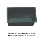 "Bon Chef 5072S BLK Full Size Chafer Food Pan, 6"" Deep, Aluminum/Black"