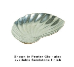 Bon Chef 5078P 6.25-in Serving Shell, Aluminum/Pewter-Glo