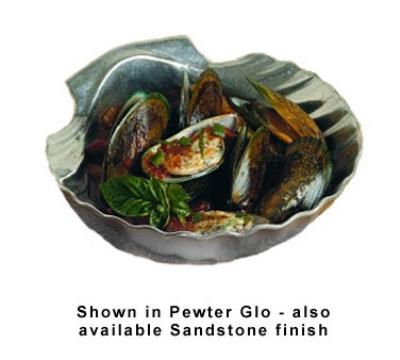 Bon Chef 5082P Deep Shell Small Bowl, 1-qt 8-oz, Aluminum/Pewter-Glo