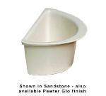 Bon Chef 5102S WH 1.5-qt Half Oval Pan, Aluminum/White