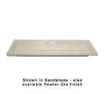 Bon Chef 5106S WH 1/2-Long Food Pan, 1/2-in Deep, White
