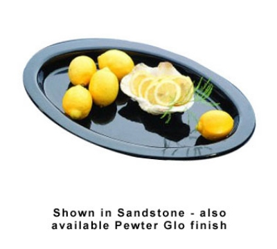 """Bon Chef 5110S BLK 17-3/8"""" Oval Casserole Dish, Aluminum/Black"""