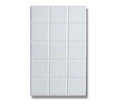 Bon Chef 52000S WH Full Size Tile, Aluminum/White
