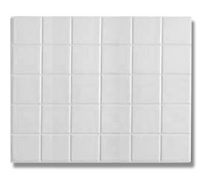 Bon Chef 52001S WH 1/2-Size Tile, Aluminum/White