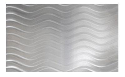 Bon Chef 52015P Tile Tray w/ Hole Shell Casserole, Aluminum/Pewter-Glo