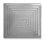 Bon Chef 52104 Double Size Rectangle Tile Inset, Stainless