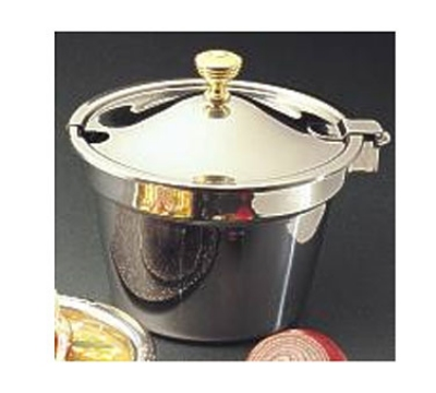 "Bon Chef 5211WHCHR Soup Tureen w/ Hinged Cover & Round Handle, 8.25"" Deep, Stainless"