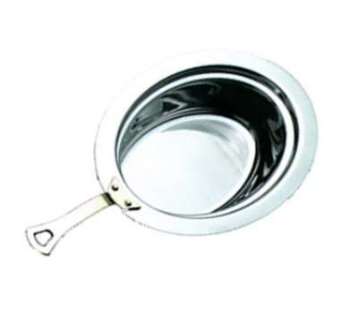 Bon Chef 5299HLSS Full Oval Food Pan w/ Long Stainless Handle, Heavy Gauge High Polish
