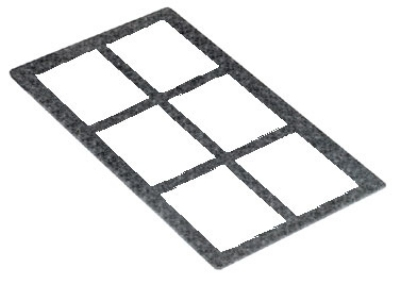 Bon Chef 53002 SLATE Tile For (6) 53107, 53108 Or 53109, Slate