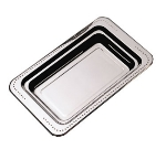 "Bon Chef 5307HRSS Full Size Food Pan w/ Round Stainless Handle, 1.25"" Deep, Bolero"