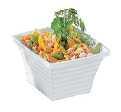 Bon Chef 53101 WH 6-qt Square Bowl, Melamine/White