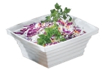 Bon Chef 53102 WH 4-qt Square Bowl, Melamine/White